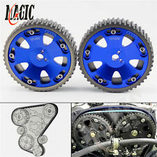 CAM GEARS Pulley KIT MITSUBISHI EVO 1 2 3 4 5 6 7 8 9 ECLIPSE DSM 4G63 2PCS BLUE