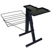 24 in. Steam Press Stand Free Standing Iron Clothes Garment Folding Black Rack