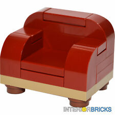 LEGO® Furniture Set: Large Arm Chair in Dark Red   [minifigure,creator,kit,home]