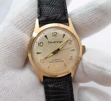 """SOVEREIGN 17 Jewel,""""Manual Wind"""" Classic Dial Glo Hands MEN'S WATCH,1150,L@@K!"""