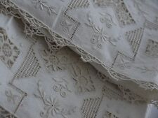 2*Antique*Needle Lace*Embroidered*Cutwork*Lace trimed*Hand towels*SwEeT*LOvE