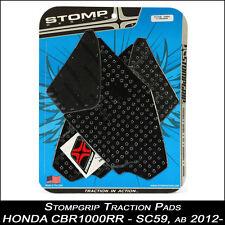 STOMPGRIP Pads de tracción HONDA CBR 1000RR 12-16 negro Tapa tanque 55-10-0023B