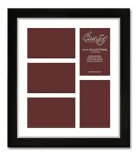 Craig Frames 1WB3BK 12x14 Black Collage Frame, White Mat with 5 4x6 Openings,