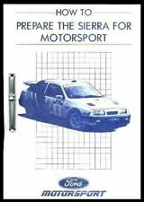 FORD COSWORTH RALLY PREP' MANUAL Inc RS 500