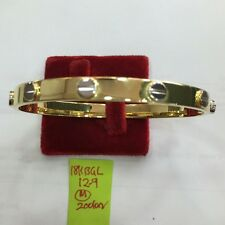 18k saudi gold 12.9g gold cartier design bangle bracelet,,,