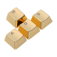SINCETOP Plating Zinc Alloy Sensitive 4 Key Caps for Mechanical Keyboard - WASD