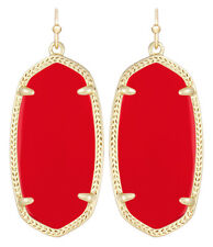 Kendra Scott Elle Dangle Earrings in Red & Gold Plated