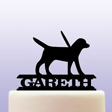 Personalised Acrylic Guide Dog Cake Topper Decoration
