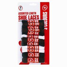 SHOE LACE SET 12 SHOELACES BLACK BROWN WHITE 60cm 75cm 90cm 110cm 150cm BOOTS