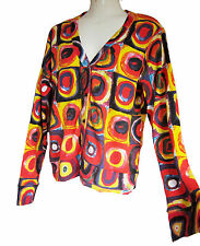 "Ladies CARDIGAN JUMPER Sweat-shirt: Wassily Kandinsky:"" Farbstudie Quadrate"""