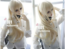 New Arrival 22-24cm Long golden Ponytail Wig For 1/3 SD LUTS PULLIP BJD Doll Wig