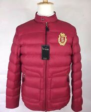 Billionaire Couture Men's Jacket Windbreaker Size 50  40US Red GOLD EMBROYDERY