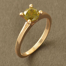 Olive Green Crystal 14K CZ Gold Filled Wedding Promise Ring Size 6 7 8 9 Womens