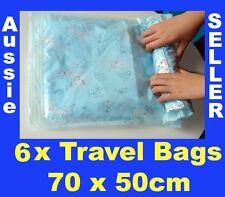 6 New 70 x 50cm Travel Space Saver Saving Hand Roll Up Roller Seal Bags Storage