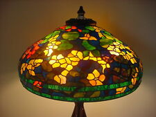 TIFFANY REPRODUCTION STAINED ART GLASS LAMP SHADE~22 INCH~NASTURTIUM~SHADE ONLY