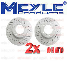 Set of 2 Meyle Brand GEOMET®Anti Rust Coated Front  Brake Rotors  for Porsche