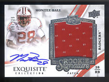 2013 Exquisite #126 Montee Ball Jersey On Card Autograph RC #068/125  WISCONSIN