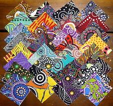 62 Aboriginal Australian Art prints quilting fabric 2.5 inch squares #50b