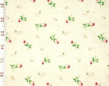 1 Fat Qtr CYRUS CLARK  Romantic ROSEBUDS Shabby Cottage Chic Roses Floral OOP