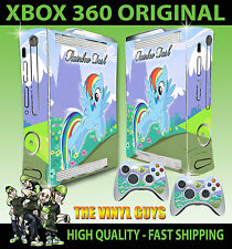 XBOX 360 ORIGINAL RAINBOW DASH MY LITTLE PONY SOLO STICKER SKIN & 2 X PAD SKINS