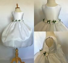 Flower Girl Wedding Bridesmaids Elegant Formal Pageant Recital Organza Dress #35