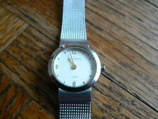Skagen Mesh watch with fresh battery and FREE SHIPPING in cont usa