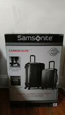 "Samsonite Carbon Elite 2pc 20"" Carry-on 28"" Silver Hardside Spinner Suitcase Set"