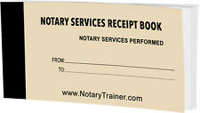 Notary Services Receipt Book By Notarytrainer.com
