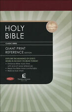 NKJV Personal Size Giant Print Reference Bible, Hardcover, Burgundy