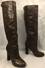 BELLE by SIGERSON MORRISON Brown Knee-High Boots Heels womens 6.5 B