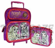 EVER AFTER HIGH ROLLING BACKPACK & LUNCH BOX SET! PURPLE FOREVER ROLLER BAG NWT