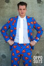 Opposuit Superman da Uomo Adulto Vestito Suit Vestito Da Supereroe Fumetto Cosplay uk40