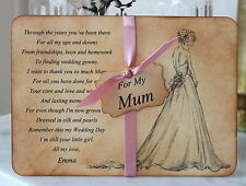 MUM-Mother of the Bride Thank You Card-Keepsake-Personalised-Vintage-Wedding Day