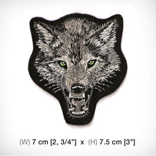 new WOLF FOX Embroidered Patch Iron on or sew Decorate Hat Jacket Clothes