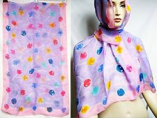 ITALY Moschino Cheap Chic SETA Silk Lollipop 48x162 Women Scarf Wrap Shawl Pink
