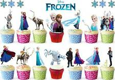 35 DISNEY FROZEN Stand Ups Edible Birthday Rice Wafer Cake/Cupcake Toppers Elsa