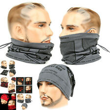 Neck Warmer Beanie XXX GRAY Face MASK BALACLAVA NECK WARMER HOOD Outdoor Hat
