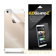 3X EZguardz Clear BACK ONLY Screen Protector Shield 3X For Apple iPhone 5S