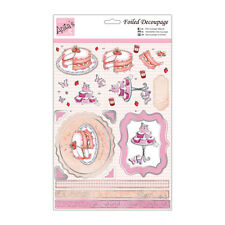 ANITAS FOILED DECOUPAGE STRAWBERRY CAKE TOPPERS FOR CARDS & CRAFTS