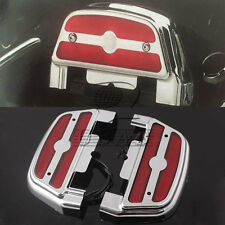 Red Led passenger footboard floorboard cover For Harley Touring Trike Softail