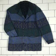 RARE VINTAGE RETRO AZTEC URBAN TRIBAL NAVAJO OVERSIZED FESTIVAL  JACKET COAT #32