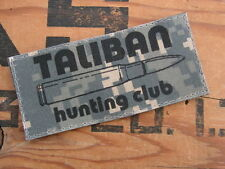 Patch Velcro - TALIBAN HUNTING CLUB - digital ACU irak AIRSOFT PAINT BALL