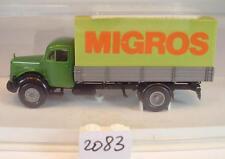 Brekina 1/87 mercedes benz l311 camión plane Bayerische alimentos suiza OVP #2083
