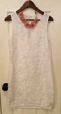 Anthropologie White Embriodered Dress Brand New Size Large