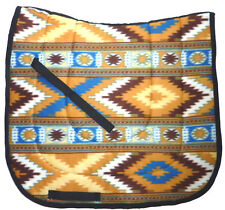 """ NAVAJO INDIAN""  DRESSAGE HORSE SADDLE PAD brown blue white beige"