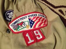 MADE IN USA CONNECTICUT RIVERS COUNCIL 19 DEN 5 LONG SLEEVE SHIRT YOUTH 14-16 L