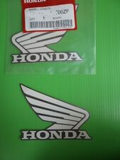Honda Fuel Tank Wing Decal Wings Sticker x 2 WHITE / SILVER ***GENUINE HONDA***