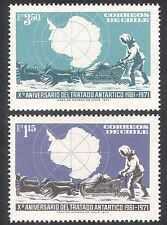 Chile 1972 Antarctic/Treaty 10th Anniversary/Dogs/Transport/Map 2v set (n24155)