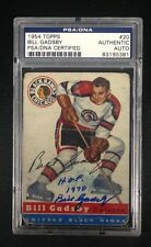 BILL GADSBY SIGNED 1954 TOPPS CARD #20 PSA/DNA Auto CHICAGO BLACKHAWKS 83195381