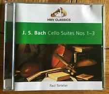 J.S. Bach Cello Suites Nos. 1-3 CD HMV Classics, Paul Tortelier